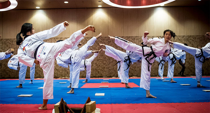 the martial art of taekwondo